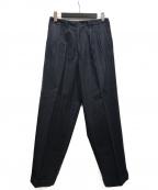 Y's for men(ワイズフォーメン)の古着「ウールストライプトラウザーパンツ」|ネイビー