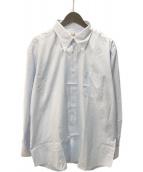 ()の古着「セリエカフスボタンダウンシャツ」 ブルー