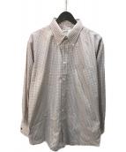 ()の古着「セリエカフスボタンダウンシャツ」 ベージュ
