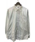 ()の古着「セリエカフスレギュラーカラーシャツ」 グリーン