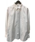 ()の古着「セリエカフスボタンダウンシャツ」 ブラウン×ホワイト