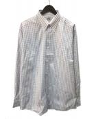 ()の古着「セリエカフスボタンダウンシャツ」 ブルー×ホワイト