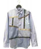 ()の古着「テープブロードシャツ」|ブルー