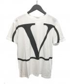 VALENTINO(ヴァレンティノ)の古着「20ss VロゴプリントTシャツ」 ホワイト