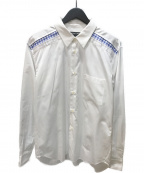COMME des GARCONS HOMME DEUX(コムデギャルソン オム ドゥ)の古着「ギンガムチェック切替L/Sシャツ」|ホワイト
