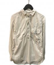 TAKAHIROMIYASHITA TheSoloIst. (タカヒロミヤシタザソロイスト) ペイントハーフジップシャツ ベージュ サイズ:XS