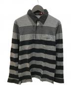 UNDERCOVERISM()の古着「L/Sボーダーポロシャツ」|ブラック