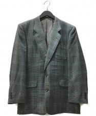 Christian Dior MONSIEUR (クリスチャンディオールムッシュ) 2Bチェックテーラードジャケット グレー サイズ:以下参照 0QD2078