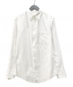 sulvam(サルバム)の古着「OX wave embro shirt 刺繍シャツ」|ホワイト
