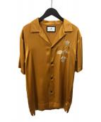 ()の古着「Flower Embroidered Shirts」 オレンジ