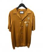 MIHARA YASUHIRO(ミハラヤスヒロ)の古着「Flower Embroidered Shirts」 オレンジ