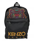 KENZO(ケンゾー)の古着「TIGER EMBROIDERY リュック」|ブラック