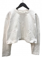 Acne studios(アクネストゥディオズ)の古着「エンボスロゴスウェットシャツ」 ホワイト