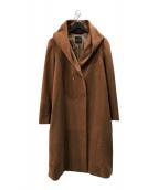 ()の古着「ガウンフードコート」 ブラウン