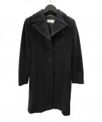 MaxMara(マックスマーラ)の古着「バルカラーウールコート」 ブラック