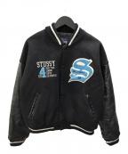 stussy(ステューシー)の古着「90'sスタジャン」|ブラック