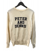 ()の古着「PETER AND DENNIS リネン混ニット」|ホワイト