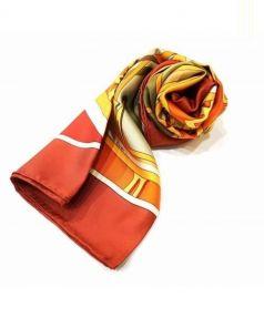 HERMES(エルメス)の古着「シルクスカーフ」|オレンジ×レッド
