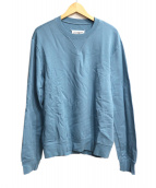Maison Martin Margiela14(メゾンマルタンマルジェラ14)の古着「エルボーパッチ付スウェット」 ブルー