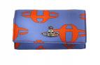 Vivienne Westwood(ヴィヴィアンウエストウッド)の古着「KEY WALLET LOGOMANIA」|ブルー×オレンジ