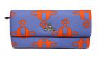 Vivienne Westwood(ヴィヴィアン・ウエストウッド)の古着「オーブプリント長財布」|ブルー×オレンジ
