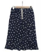 COMME des GARCONS(コムデギャルソン)の古着「総柄スカート」|ブルー×ホワイト