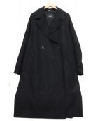 HEVO(イーヴォ)の古着「ダブルチェスターコート」|ブラック