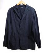 COMOLI(コモリ)の古着「タイプライター3Bジャケット」 ネイビー