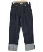 SERGE de bleu(サージ)の古着「サージコットンドライデニムパンツ」|インディゴ