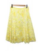 EPOCA(エポカ)の古着「プリンテッドリバーレースセミフレアスカート」