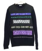 KENZO(ケンゾー)の古着「スローガン刺繍入りセーター」|グレー