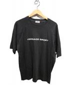 VERSACE SPORTS(ヴェルサーチ スポーツ)の古着「ロゴTシャツ」|グレー