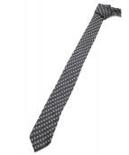 Christian Dior(クリスチャンディオール)の古着「BEE総柄ネクタイ」 ブラック×ホワイト
