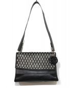 Christian Dior(クリスチャンディオール)の古着「ムーンスタッズショルダーバッグ」|ブラック×ホワイト
