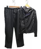 GIORGIO ARMANI(ジョルジオアルマーニ)の古着「フーデッドセットアップ」|ブラック