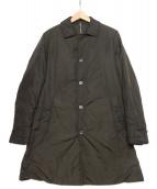 ASPESI(アスペジ)の古着「中綿入りステンカラーコート」 カーキ