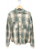 THE NORTH FACE PURPLE LABEL(ザノースフェイス パープルレーベル)の古着「ヘビーコットンシャツ」|ブラウン×グリーン