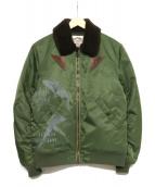 CALEE(キャリ)の古着「フライトジャケット」|セージグリーン