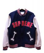 Supreme(シュプリーム)の古着「スタジャン」|ネイビー