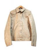 PRADA(プラダ)の古着「レザージャケット」 アイボリー