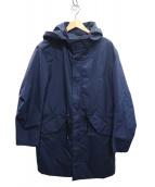 ck Calvin Klein(シーケーカルバンクライン)の古着「ナイロンフーデッドコート」|ネイビー