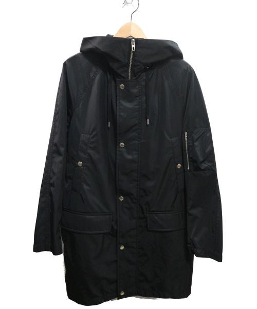 ck Calvin Klein(シーケーカルバンクライン)ck Calvin Klein (シーケーカルバンクライン) フーデッドコート ブラック サイズ:36 未使用品の古着・服飾アイテム