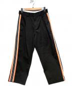 NOMA t.d.(ノーマティーディー)の古着「サイドラインパンツ」 ブラック×オレンジ
