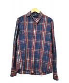 Vivienne Westwood man(ヴィヴィアンウエストウッドマン)の古着「チェックシャツ」|ネイビー×レッド