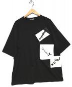 GROUND Y(グラウンドワイ)の古着「パッチワークtシャツ」|ブラック