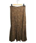 COUTURE DADAM(クチュール ド アダム)の古着「ロングスカート」|ベージュ