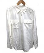 EQUIPMENT(エキップモン)の古着「シルクシャツ」 ホワイト
