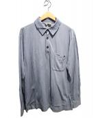 HERMES(エルメス)の古着「長袖ポロシャツ」|スカイブルー