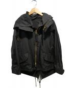 THE RERACS(ザ リラクス)の古着「ショートモッズコート」|ブラック