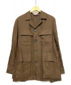 Paul Stuart(ポールスチュアート)の古着「サファリジャケット」|ブラウン